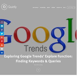 Exploring Google Trends' Explore Function: Finding Keywords & Queries - Quietly Blog