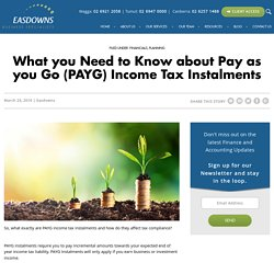 Exploring the Pay As You Go (PAYG) Income Tax Instalment