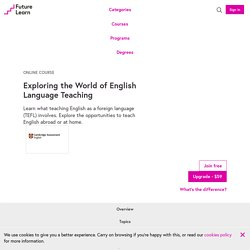 Exploring the World of English Language Teaching - Free online course