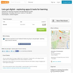 Lets get digital - exploring apps & tools for learning- Eventbrite