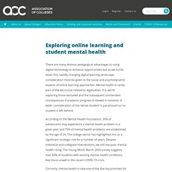 Exploring online learning and student mental health