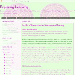 Myths of learner-centred teaching and learning