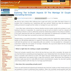 Exploring The In-Depth Aspects Of The Marriage Or Couple Counselling in Bristol