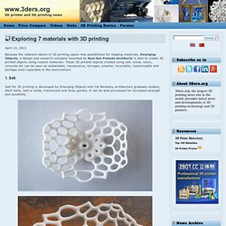 Exploring 7 materials with 3D printing
