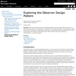 Exploring the Observer Design Pattern
