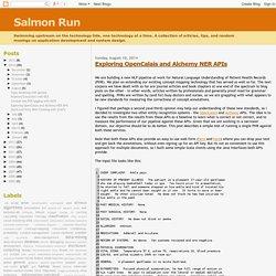 Salmon Run: Exploring OpenCalais and Alchemy NER APIs