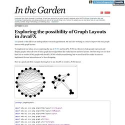 In the Garden - Exploring the possibility of Graph Layouts in JavaFX