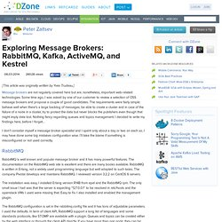 Exploring Message Brokers: RabbitMQ, Kafka, ActiveMQ, and Kestrel