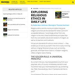 Exploring Religious Ethics in Daily Life - dummies