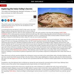 Exploring the Indus Valley's Secrets