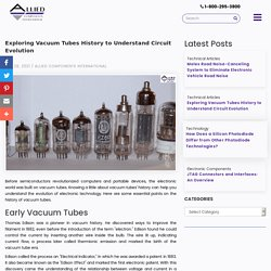 Exploring Vacuum Tubes History to Understand Circuit Evolution
