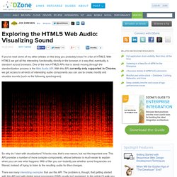 Exploring the HTML5 Web Audio: Visualizing Sound
