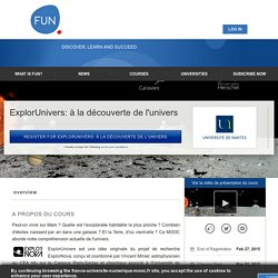 About ExplorUnivers: à la découverte de l'univers
