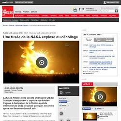 Une fusée de la NASA explose au décollage