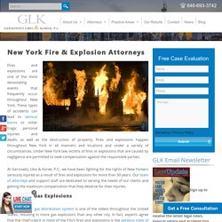 New York Fire and Explosion Attorneys - GLK Lawyers