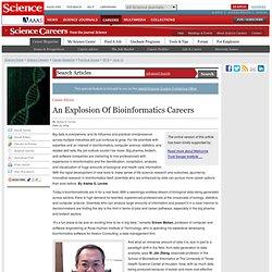 An Explosion Of Bioinformatics Careers