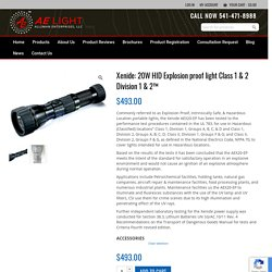 20W HID Explosion proof light Class 1 & 2 Division 1 & 2™