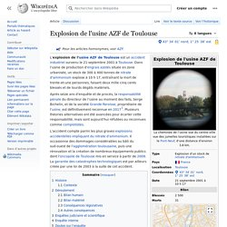 Explosion de l'usine AZF de Toulouse