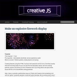 Make an explosive firework display