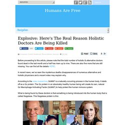 Explosive: Here's The Real Reason Holistic Doctors Are Being Killed