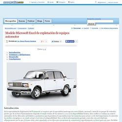 Modelo Microsoft Excel de explotación de equipos automotor