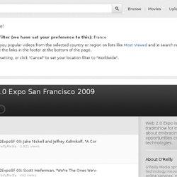 2009 Web Expo Videos