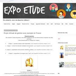 ExpoEtude: Projet d'étude de gestion avec exemple Air France