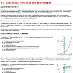 4.1 - Exponential Functions and Their Graphs