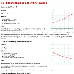 4.5 - Exponential and Logarithmic Models