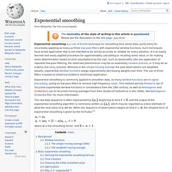 Exponential smoothing - Wikipedia
