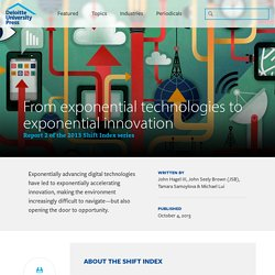 From exponential technologies to exponential innovation