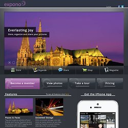 Expono Photo Sharing | Backup, Organize and Share Photos Online