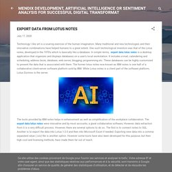 EXPORT DATA FROM LOTUS NOTES