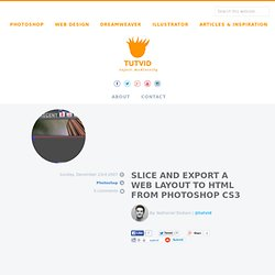 Slice and Export a Web Layout to HTML from Photoshop CS3 | Tutvid.com