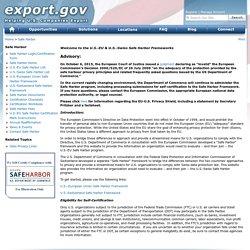 Main Safe Harbor Homepage