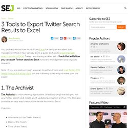 3 Tools to Export Twitter Search Results to Excel