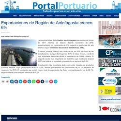 Exportaciones de Región de Antofagasta crecen 6% - Portal Portuario