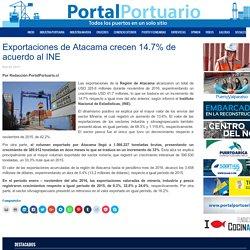 Exportaciones de Atacama crecen 14.7% de acuerdo al INE - Portal Portuario
