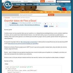 Exportar datos de Flex a Excel