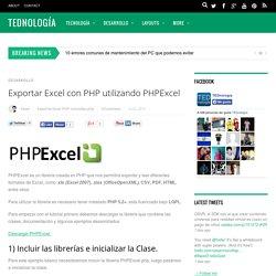Exportar Excel con PHP utilizando PHPExcel