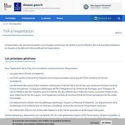 Portail de la Direction Générale des Douanes et Droits Indirects