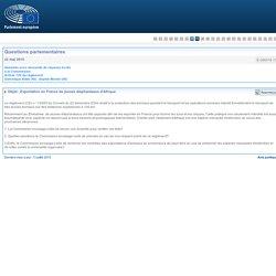 PARLEMENT EUROPEEN - Réponse à question E-008318-15 Exportation en France de jeunes éléphanteaux d'Afrique