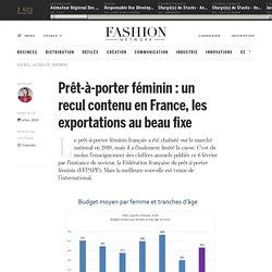 Prêt-à-porter féminin : un recul contenu en France, les exportations au beau fixe - Actualité : business (#1064824)