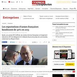 Les exportations d'armes françaises bondissent de 30% en 2013