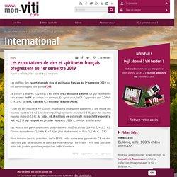 Les exportations de vins et spiritueux français progressent au 1er semestre 2019