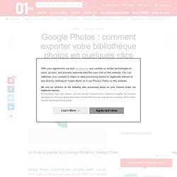 Google Photos : comment exporter votre bibliothèque photos en quelques clics