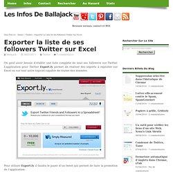 Exporter la liste de ses followers Twitter sur Excel