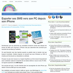 Exporter ses SMS vers son PC depuis son iPhone