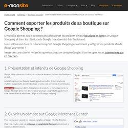 Exporter les produits de sa boutique sur Google Shopping