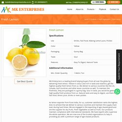 Fresh Lemon Exporter from Pune India,Wholesale Fresh Lemon Supplier